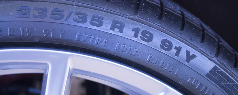 The Numbers and Letters on the Side of a Tyre Including the Speed Rating