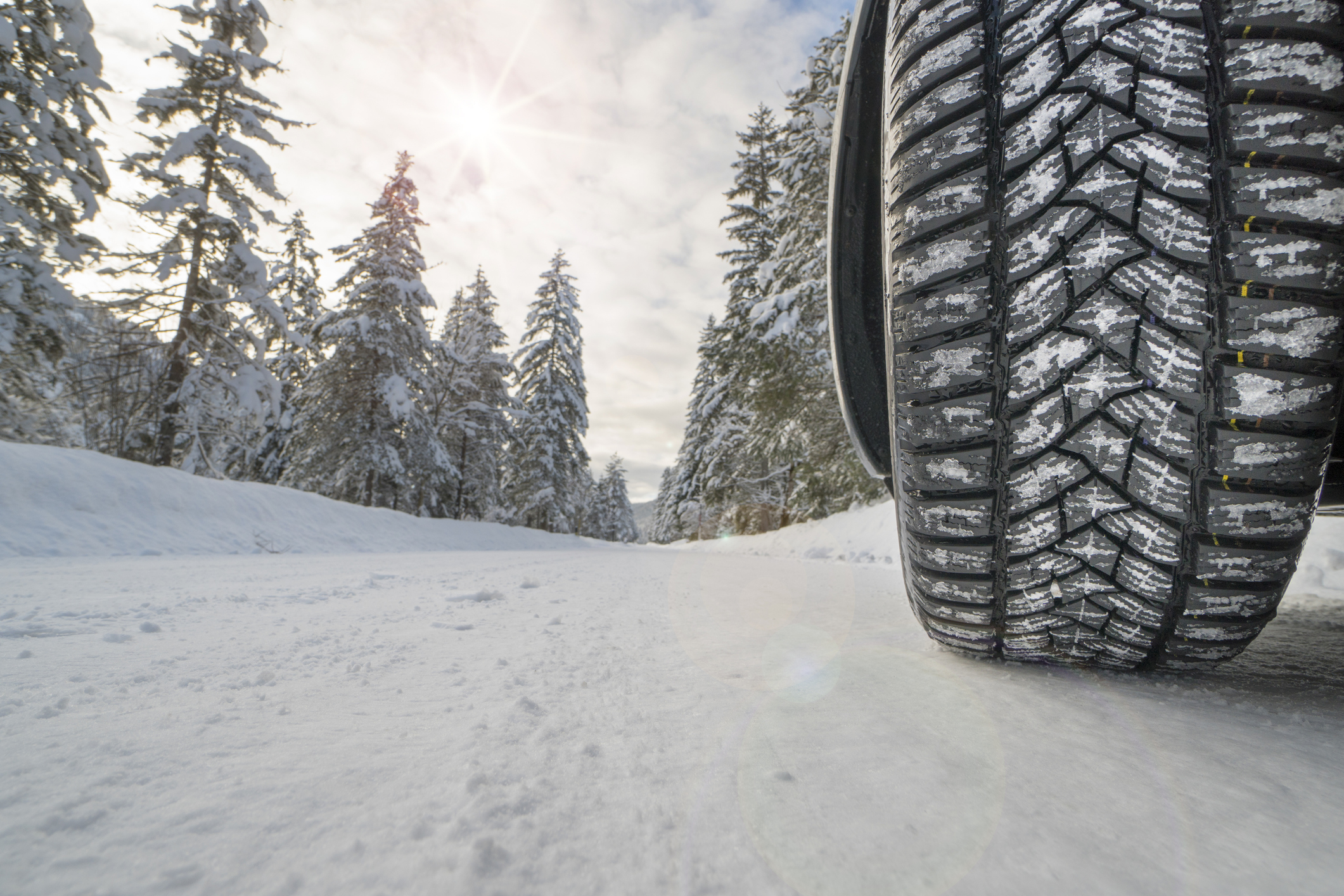All season tyres in snow