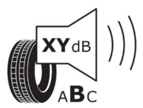EU tyre label noise icon